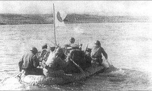 Japanese soldiers cross Khalkhin-Gol. Source: wikipedia.org