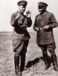 Zhukov and Mongolian leader Khorloogiin Choibalsan. Source: wikipedia.org