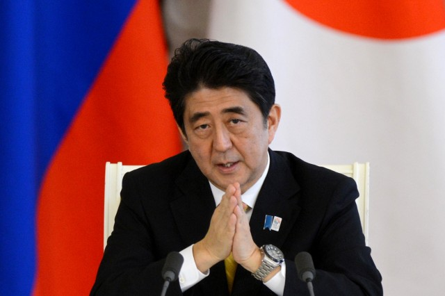 Japan's PM Shinzo Abe visiting Moscow, April 28-30, 2013