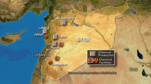 Syrian Chemical Weapons facilities mapped by Monterey Institute of International Studies (USA)