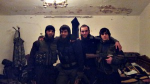 "A group of Chechen ""holy warrirors"" in Syria."
