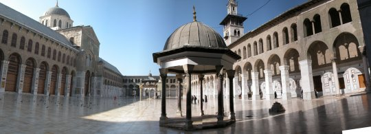 Great Mosque of Damascus, formerly the Basilica of Saint John the Baptist, the fourth-holiest place in Islam.