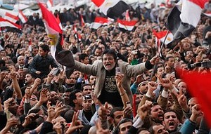 Crowds Rally In Tahrir Square. Would you be able to figure out the date of this snap-shot? 2011? 2012? 2013?
