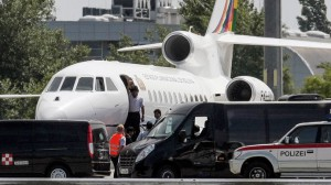 Bolivia's presidential jet forcedly landed in Vienna airport, July 3, 2013.