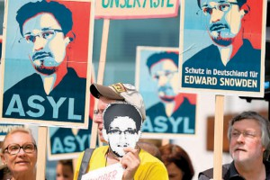 The Edward Snowden affair has irrevocably undermined American credibility on human-rights issues. Photo: EPA