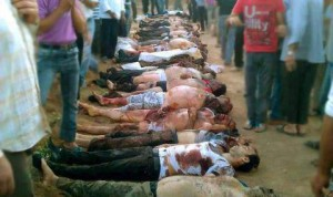 Saudi Arabia supported al-Nusra terrorist slaughtered Latakia civilians as they withdrew.