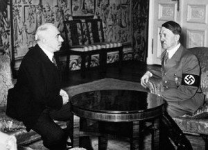 Emil Hacha meeting with Adolf Hitler, Berlin, March 14, 1939