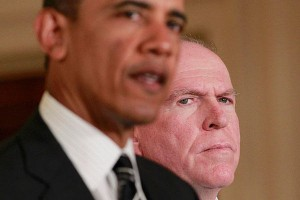 Barack Obama and CIA Director John Brennan.