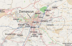 Map of Damascus and suburbs