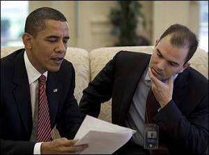 President Obama with his Deputy National Security Adviser Benjamin Rhodes. Source: LibertyNews.com