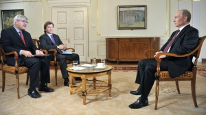 Russian President Vladimir Putin giving interview to Channel One and Associated Press on September 4, 2013.