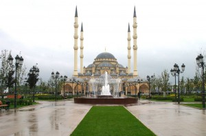 One of the largest mosques of the world, 'Heart of Chechnya', was opened in Grozny (Chechnya, Russia) in 2008.