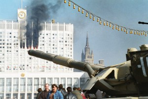 The conflict between President Boris Yeltsin and the State Duma in 1993 ended with the shelling of the Russian White House. Source: Itar-Tass