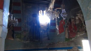Christain temple in Sadad town (Syria) desecrated by militant jihadists, November 2013