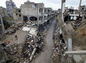 The city of Homs today.