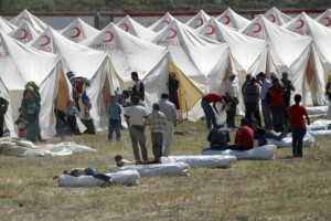 A Syrian refugee camp in Turkey