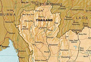 Golden Triangle (Thailand, Laos, Myanmar) map