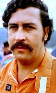 Medellin drug cartel leader Pablo Escobar
