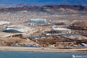 Olympic Coastal Cluster in Sochi under construction, 2012