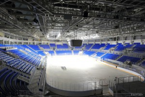 "Sochi's brand new Olympic Ice Hockey Hall ""Shayba"""