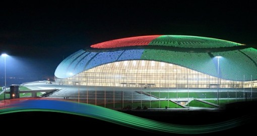 FISHT Olympic Stadium (capacity 40000 people) will provide a seaside setting for the Opening and Closing Ceremonies of the 2014 Winter Olympics and Paralympics. It will also host several matches of the 2018 FIFA World Cup.