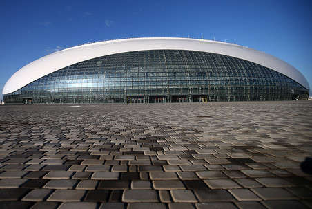 The Bolshoy Ice Dome is a 12,000-seat multi-purpose arena that was opened in 2012.  It will host some of the ice hockey events at the 2014 Winter Olympics and will serve as a sports arena and concert venue afterwards.