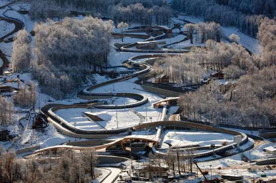 The Sliding Center Sanki is a bobsleigh, luge, and skeleton track located in Krasnaya Polyana (Mountain Cluster), Sochi. The first top-quality track of the kind in Russia, opened in 2012.