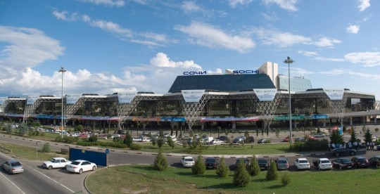 The brand new Sochi International airport opened in 2010.