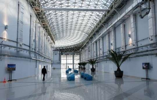 Interiors of the International Press Centre, Olympic Park, Sochi.