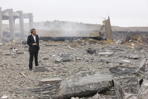 Bernard-Henri LeŽvy in Libya, March 2011. Source: http://www.bernard-henri-levy.com