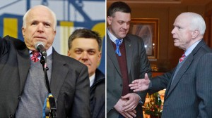 John McCain with Neo-Nazi Svoboda Party leader Oleh Tyahnibok, Kiev, December 15, 2013