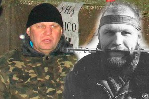 Olexander Muzychko today in Kiev (left) and in Chechnya in 1994.