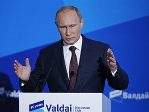 Vladimir Putin speaks to the participants of 'Valdai' International Discussion Club,  September 19, 2013. Photo: Reuters