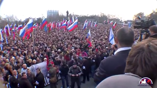 Mass rally in Sevastopol, February 22, 2014