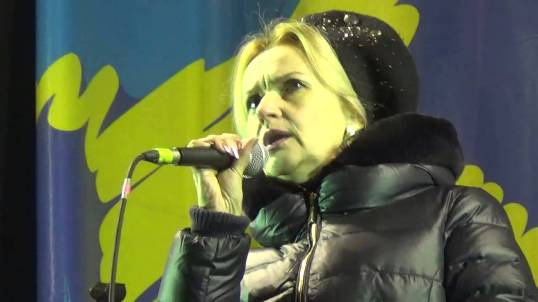 "Irina Farion, one of the ideological pillars of Svoboda Party:  ""We have 14% of Ukrainians, who indicated that their native language - Russian, ie the language of the occupier. It shows a terrible mutation of consciousness. This is a 5 million Ukrainians, degenerates."""