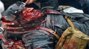 A Ukrainian riot police officer killed by unidentified sniper in Kiev on February 20, 2014