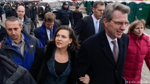 Assistant US Secretary of State Victoria Nuland and US ambassador to Ukraine Jeffrey Payette in Kiev,  December 2013