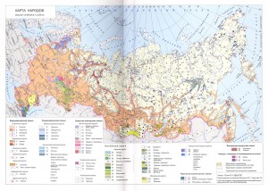 Ethnic map of Russia