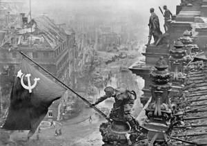 Victory banner over Berlin, 01.05. 1945