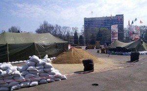 Anti-fascist tent camp on Kulikovo Pole, Odessa, April 2014.