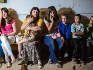 Residents of Slavyansk hiding in the underground while Ukrainian artillery is hitting the town, May 28, 2014. Source: RIA Novosti.