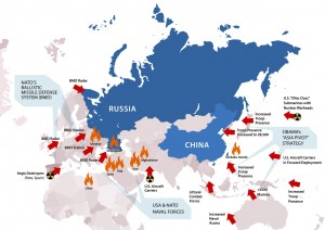Advanced-placement BMD systems encircle Russia and China, fundamentally altering strategic balance. Source: LarouchePac