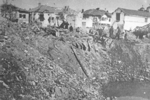 Leskovac after bombing