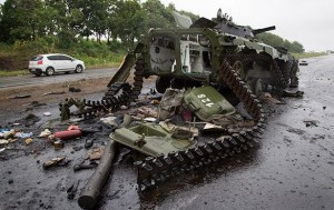 A number of US instructors were ambushed by Novorossia army near Malinovka village, Donbass on August 7, 2014.
