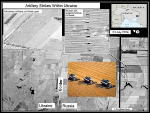 According to the US State Department, Russian self-propelled harvesters are firing at Ukraine.