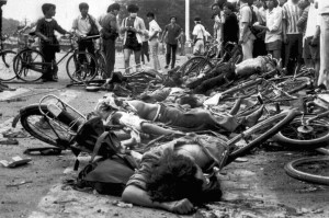 On June 4, 1989, soldiers opened fire on the demonstrators, killing somewhere between 500 and 2500 people. Are protesters trying to reach this situation too?
