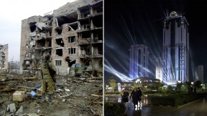 Grozny in 1997 (L) and 2012 (R)