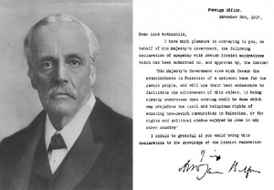 Balfour and the Declaration.