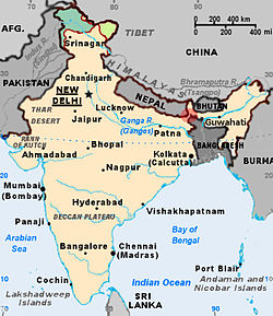 Siliguri Corridor (the red dot on the map)