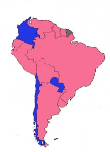 Pink tide countries
